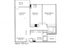 Center Two Bedroom Floor Plan (11)