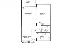 One Bedroom Floor Plan (07)